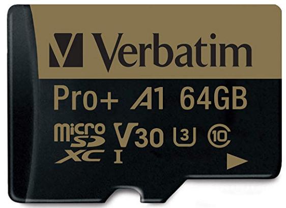 Verbatim 64GB Pro Plus 666X micro SD card