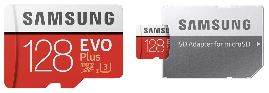 samsung evo plus 128gb microSD card